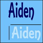 Aiden Boys Name Wall Sticker -18x40cm Interior Home Vinyl Decal Decor Sign