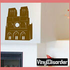 Notre Dame Cathedral Paris Vinyl Wall Decal Or Car Sticker - landmarksmc010EY