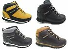 New TIMBERLAND Black Leather Boots Euro Rock Hiker Boys Kids Sale Lace Size 7-6