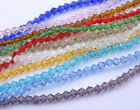 500Pcs 4MM glass crystal diy finding bicone faceted loose beads - 12colors
