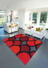 MODERN BUBBLE RED  UNIQUE STYLE HARLEQUIN DESIGN CHEAP AND BEST COST RUGS