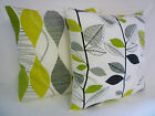 """Big Large 22"""" Cushion Cover Lime Green Grey Black Contemporary  Hand Crafted #G1"""