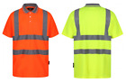 UCI VIZWELL Hi Vis Viz Mens Polo Shirt Safety Work - Various Colours & Sizes