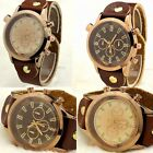 Boys Men Wristwatches Quartz Wrist Watch Brown Leatheroid Band Wrist Watches