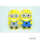 Despicable Me 3D 2D Minions TPU Soft Silicon Case Cover for iPhone 5 5s