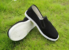 Men Chinese Kung Fu Martial Arts Ninja Shoes Cotton Sole Canvas Slippers-UK FO