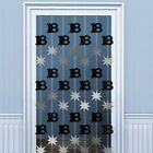 Metallic Foil 18th BIRTHDAY PARTY HANGING DECORATION Door Curtain. Choose colour