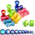 Acrylic Colorful Dot Ear Flesh Saddle Plug Tunnel Expander Stretcher Piercing