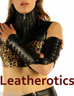 Genuine Leather Gauntlets lace arm gloves corset Steampunk Gothic Punk Vintage