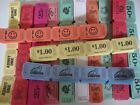 800 SINGLE ROLL RAFFLE TICKETS (100 OF EACH COLOR) or  CHOOSE YOUR OWN MIX