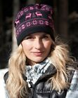 Ladies Snood Hat Face Head Ear Protection Fleece Lined Raindeer Design 3 colour