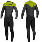 2014/15 O'Neill Superfreak 4/3mm Mens Wetsuit Black Graphite Lime, Surf