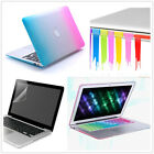 """Rainbow Rubberized Case Cover For Macbook Pro 13""""/15"""" Air 11""""/13""""inch(4in1 Set)"""