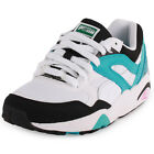Puma Trinomic R698 Mens Synthetic White Blue Trainers New Shoes All Sizes