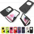 For LG G3 Slim Pu Leather Case Cover Quick Circle card wallet magnetic hold belt