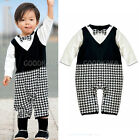 Flower Boy Costume for Baby Kid Boy 6-24m Wedding Ceremony Party Gentleman suit