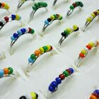 wholesale lot 40-400pcs jewelry colorful beads fashion alloy Rings free shipping
