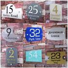 Personalised House Sign Door Number Street Address Plaque Glass Effect Acrylic