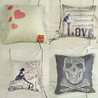Valentine's & Halloween Throw Pillow Cases Square Back Cushion Cover Home Decor