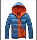 New men's winter hooded coat jacket zipper Slim Men HOT!