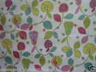 SWATCHBOX APPLES & PEARS BRIGHT 100% COTTON MATT PVC/VINYL/OILCLOTH TABLECLOTH
