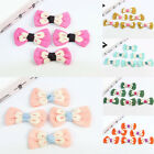 10 Pcs Lace Decorated Bows Bowknot Sew On Applique DIY Hair Accessory 9 Colors