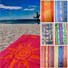 BEACH TOWEL COTTON MULTIPLE DESIGNS HOLIDAY SUN TOWEL BATH SWIMMING SWIM SHEET
