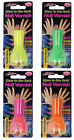 GLOW IN THE DARK NEON NAIL VARNISH IN YELLOW, GREEN, PINK & ORANGE 724004