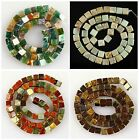 J60414 6~8mm Faceted gemstone cubes loose beads,more material & size to select