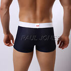 Trendy Men Sexy Smooth Underwear Sport Boxer Brief Trunk Shorts 6Colors Sz S M L