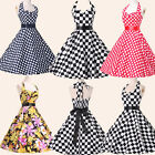 ❤CLEARANCE❤FAST VINTAGE STYLE 50s 60s ROCKABILLY PIN UP SWING EVENING PROM DRESS
