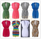 1pc Womens Deep-V Neck Beach Summer Wear Swimwear Bikini Cover Up Sweet Dress
