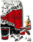 6-Pc Jazzy Piano Keys & Music Notes Bathroom Collection Bath Accessories