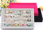 1pc Jewelry Ring Charm Suede Display Organizer Holder Case Storage Accessory