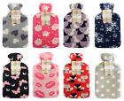 Soft & Cosy Fleece Cover Large 2 Litre Hot Water Bottles