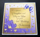 Daughter & Son In Law 3rd Wedding Anniversary Card - 4 Colours