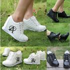 1× Lady Women High Platform Invisible Heighten Increasing Sneakers Canvas Shoes