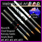Professional Kolinsky Sable Acrylic Nail Art Brush Hair Size 2 4 8 10 12 14 20