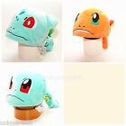 New Pokemon Plush Adult Hat Cap Cosplay Costume 3D Bulbasaur Squirtle Charmander