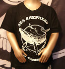 Sea Shepherd Original Classic t-shirt (BLACK) Whale Kids Children