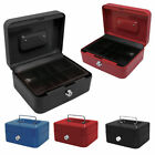 PETTY CASH BOX SAFE STEEL METAL CASH TRAY SECURITY WITH 2 KEYS & TRAY
