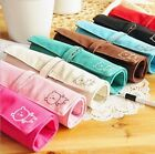 5977 Three Folding Canvas Cosmetic Makeup Brush Pencil Bag Pouch Purse Case 1pc