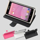 "Original Folio Leather Case Cover Skin For 4.5"" Philips S388 Smartphone LR"