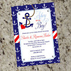 Ahoy, it's a Boy!  Nautical Themed Baby Shower Invitations with anchor print