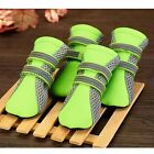4 X Dog Shoes Net Mesh Pet Puppy Paw Boots Sneaker Protective Green/Rose Warm