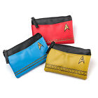 STAR TREK TOS Licensed Starfleet Insignia COIN PURSE Travel BAG RED BLUE or GOLD
