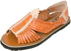 REDDISH BROWN/NATURAL COMBO Men's Huarache Sandals Mexican Sandals 100% Leather