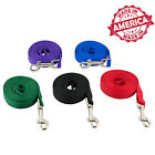 "Nylon Dog Leash Pet Training Leads 1/2"" & 5/8"" many Colors & Lengths Made in USA"