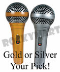 "28"" Gold / Silver Inflatable Microphone ( SINGLE )  Music Theme Party Accessory"