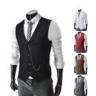 Leisure Mens Formal Vest Men  Waistcoat Dress Vests Jackets XS S M L Best